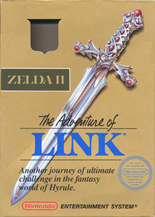 Zelda II the Adventure of Link box art