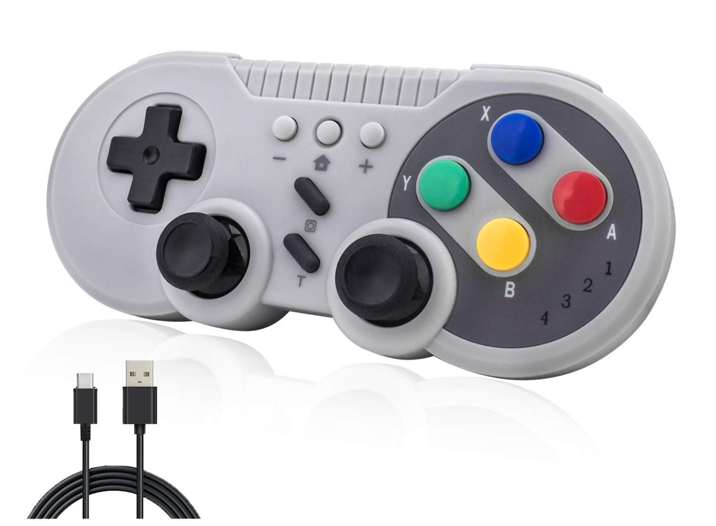TechKen SNES wireless pro controller for Nintendo Switch, PC and Android