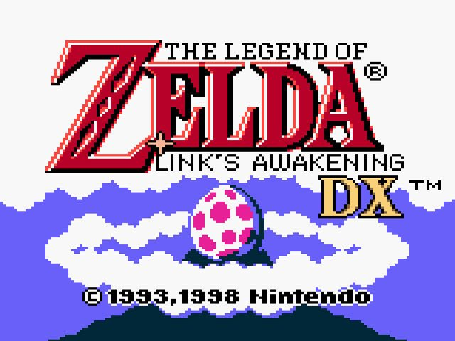 Legend of Zelda: Link's Awakening DX title screen