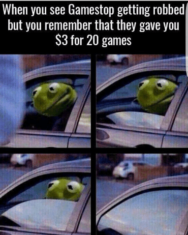 Kermit GameStop meme