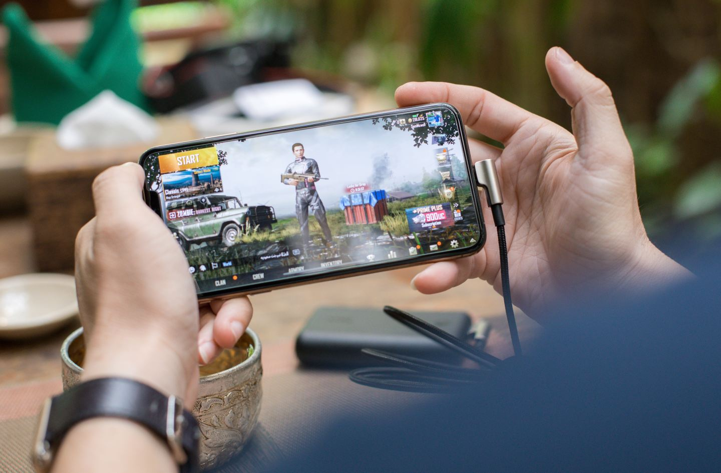 PUBG - mobile gaming on a cell phone