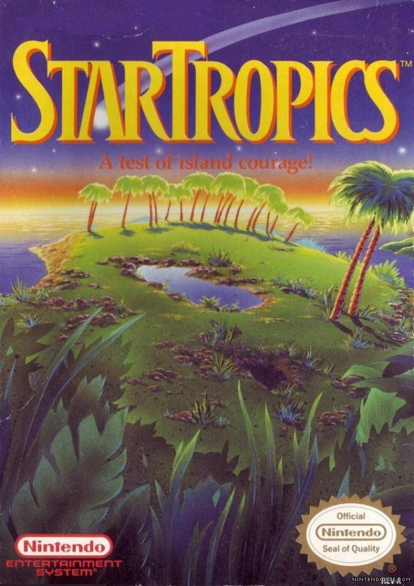 StarTropics for NES game box art