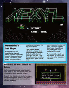 Xexyz page one, Ghetto Gamer Magazine