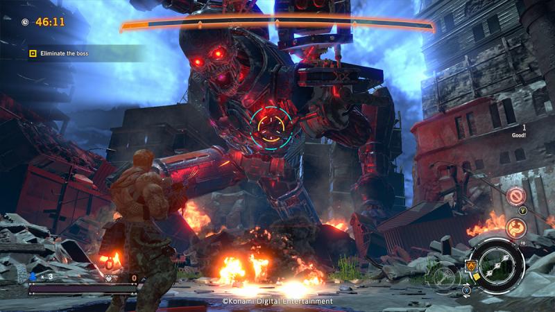 Contra Rogue Corps boss battle