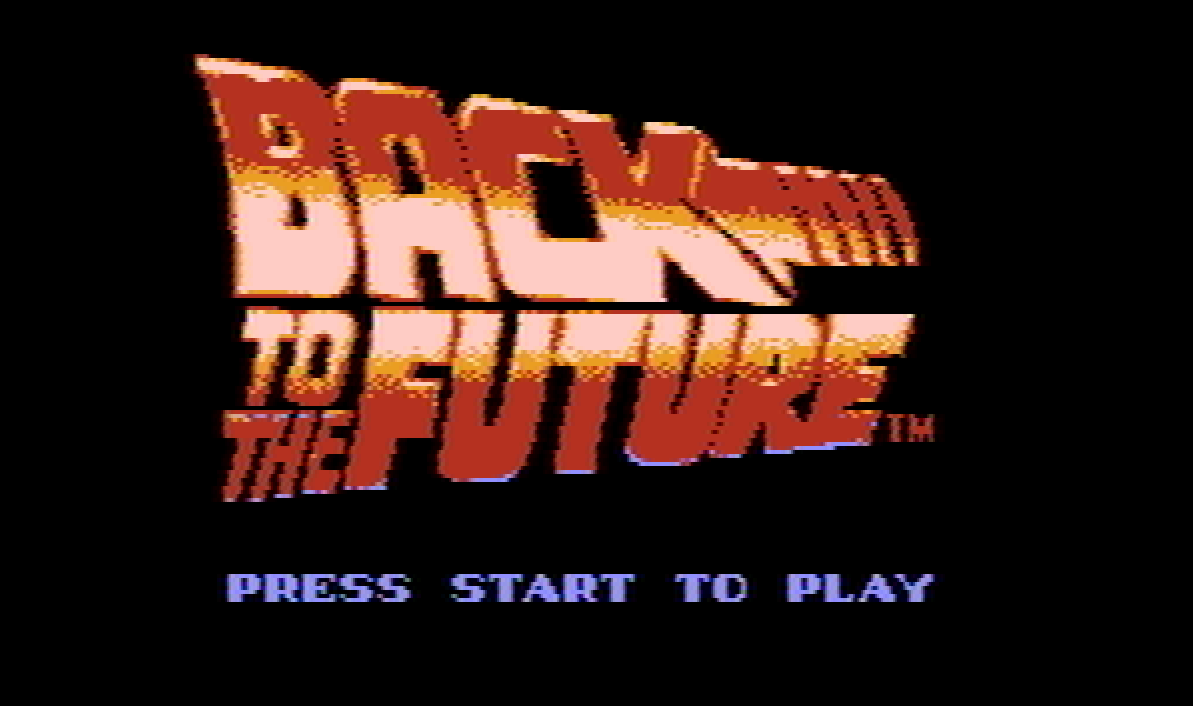 Back to the Future NES title screen