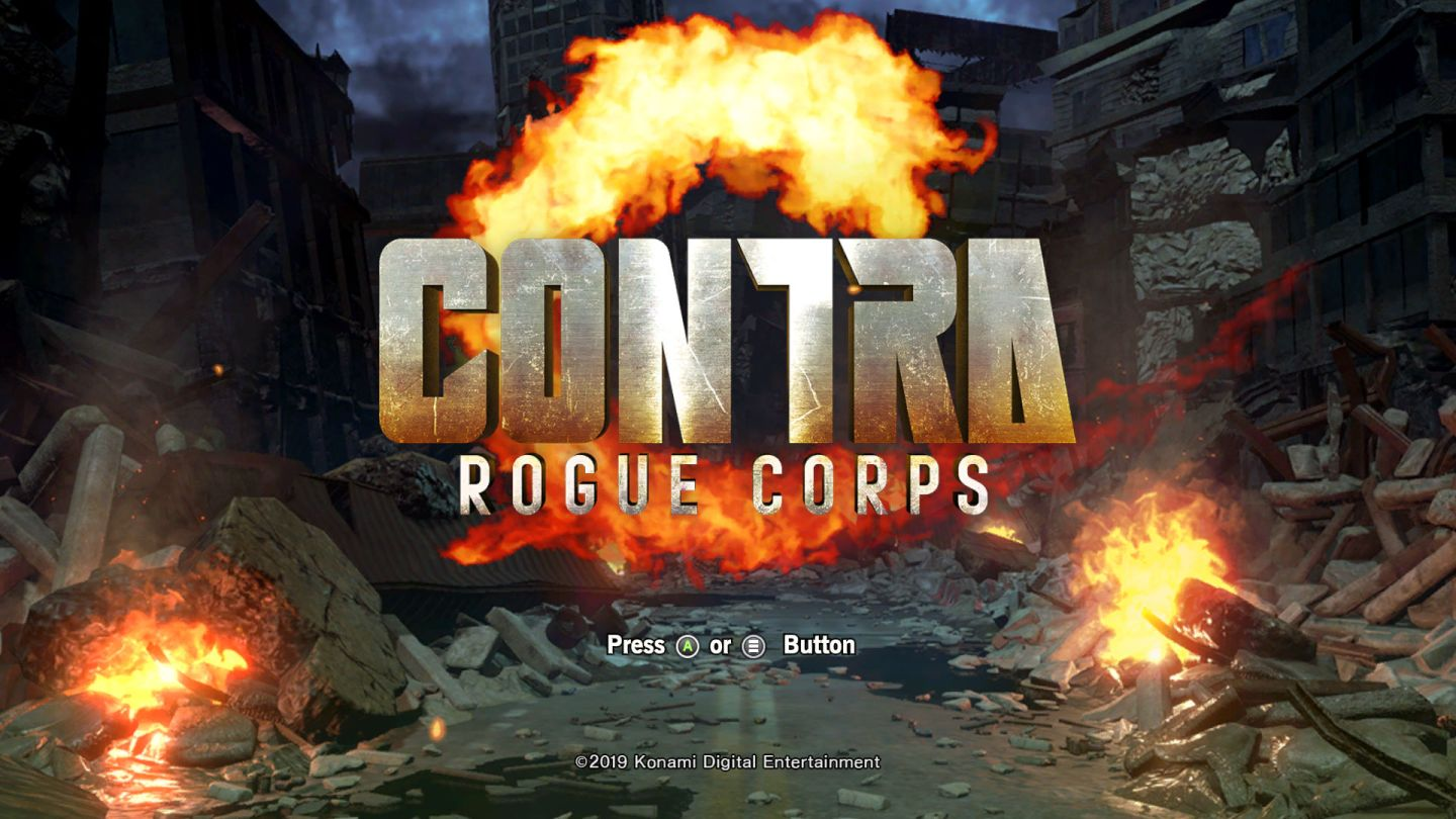 Contra Rogue Corps title splash