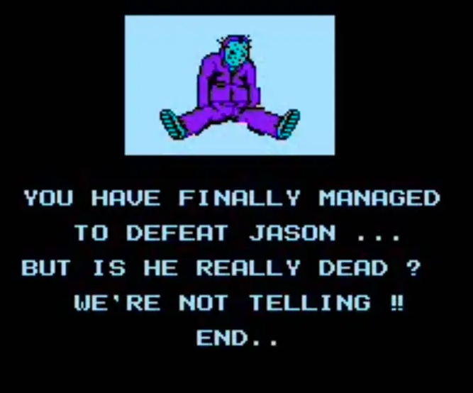 Friday the 13th for the NES - Ending