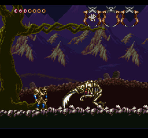 SNES Demons Crest on Nintendo Switch online mini boss