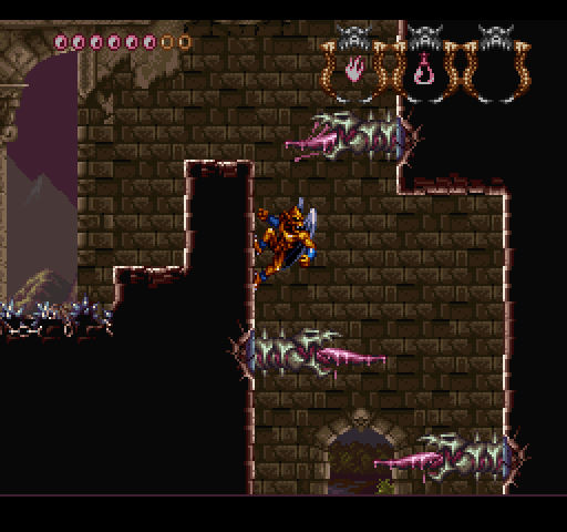 SNES Demons Crest on Nintendo Switch online - wall clinging