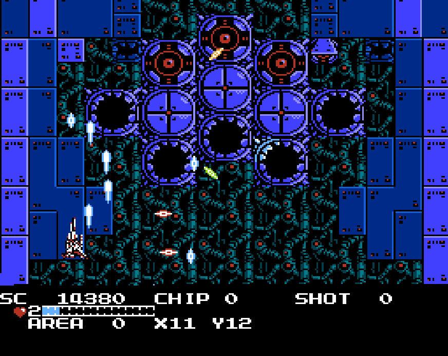 Guardian Legend NES shooter segment
