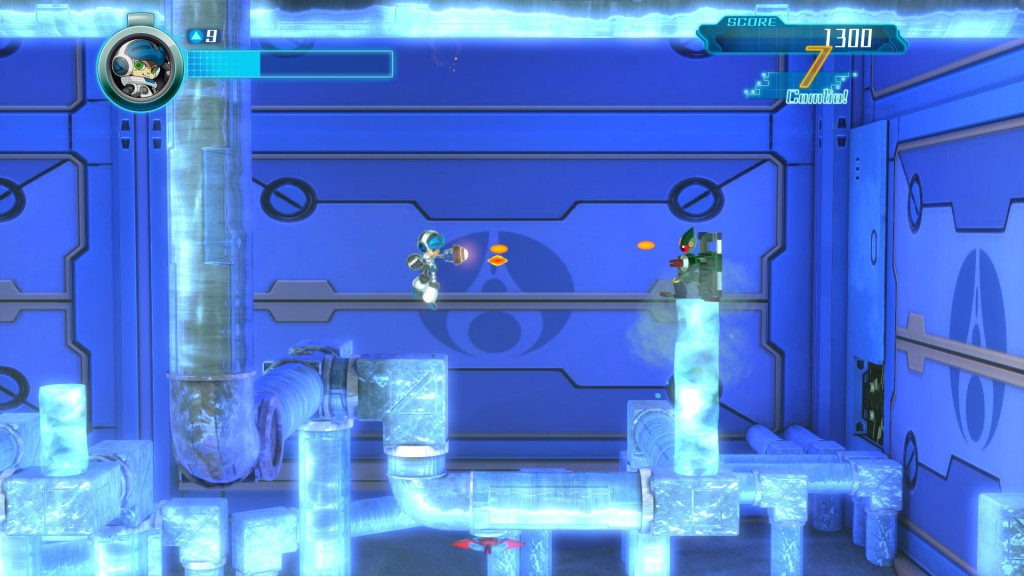 Mighty No. 9 gameplay ice world screen