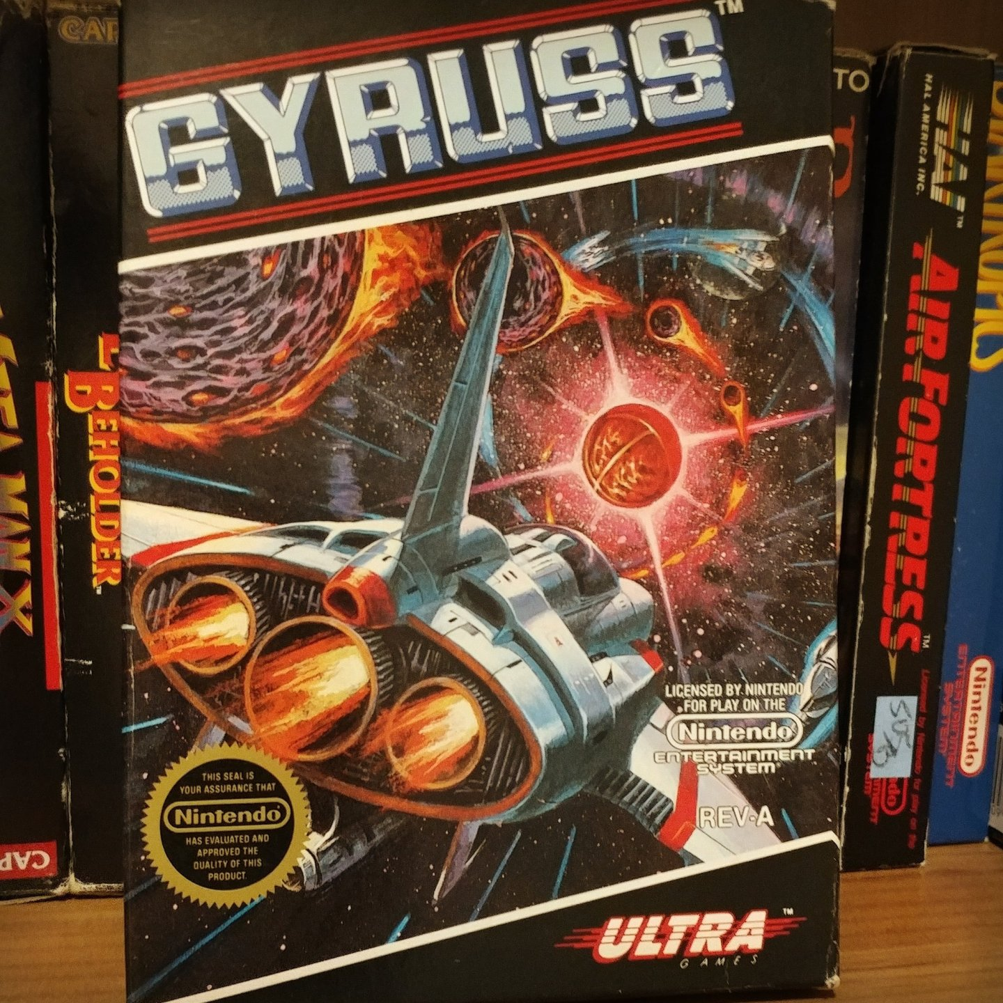 Gyruss for NES on my shelf ghettogamer.net