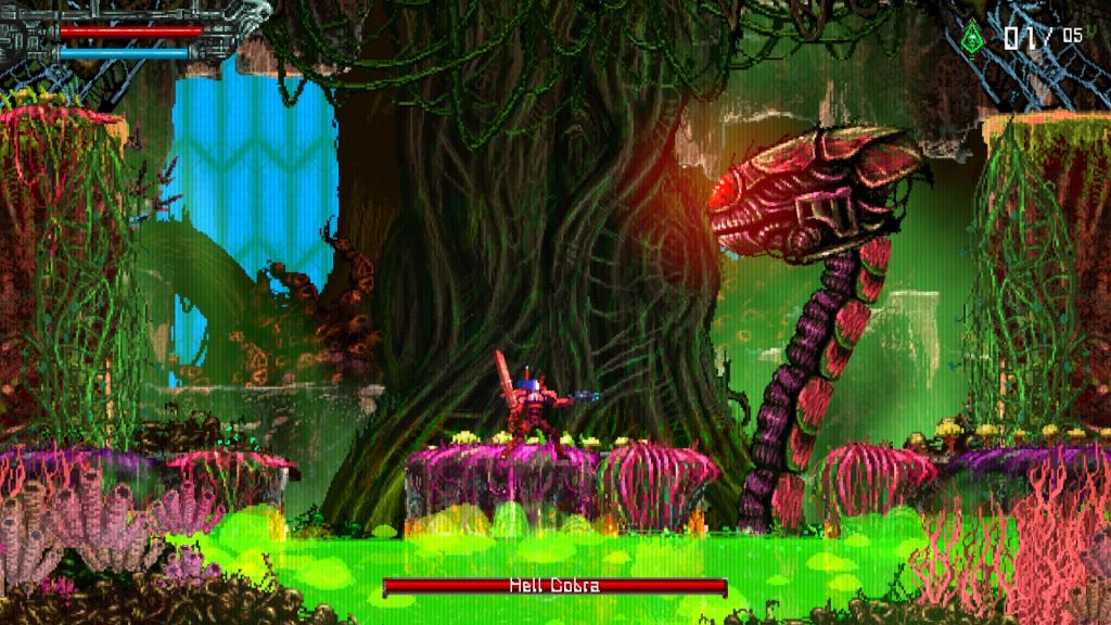 Valfaris Switch Steam XBox PS4 review Jungle environment