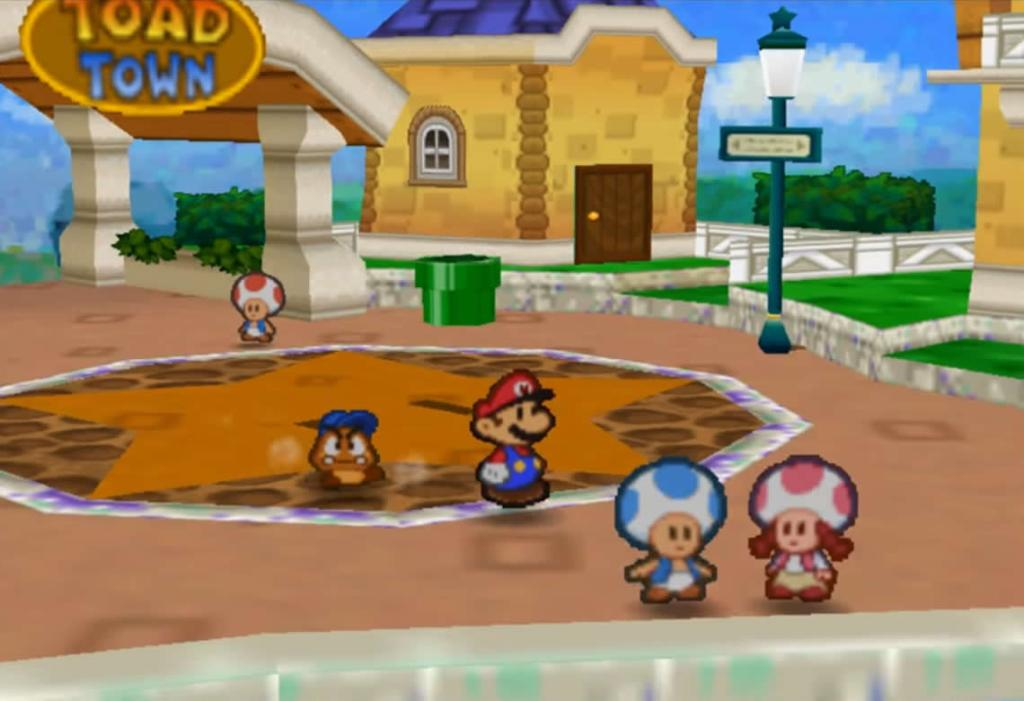Paper Mario - Toad Town N64
