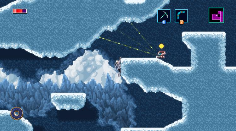Axiom Verge 2 icy cavern stage