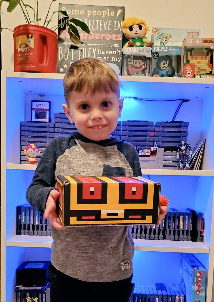 Retro Game Treasure Retro game crate treasure box with Milo
