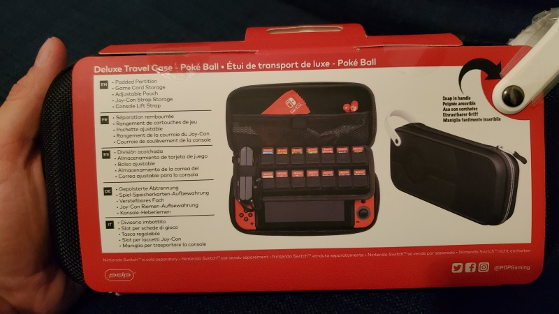Is the Switch Deluxe Travel Case worth it? Picture of packaging.