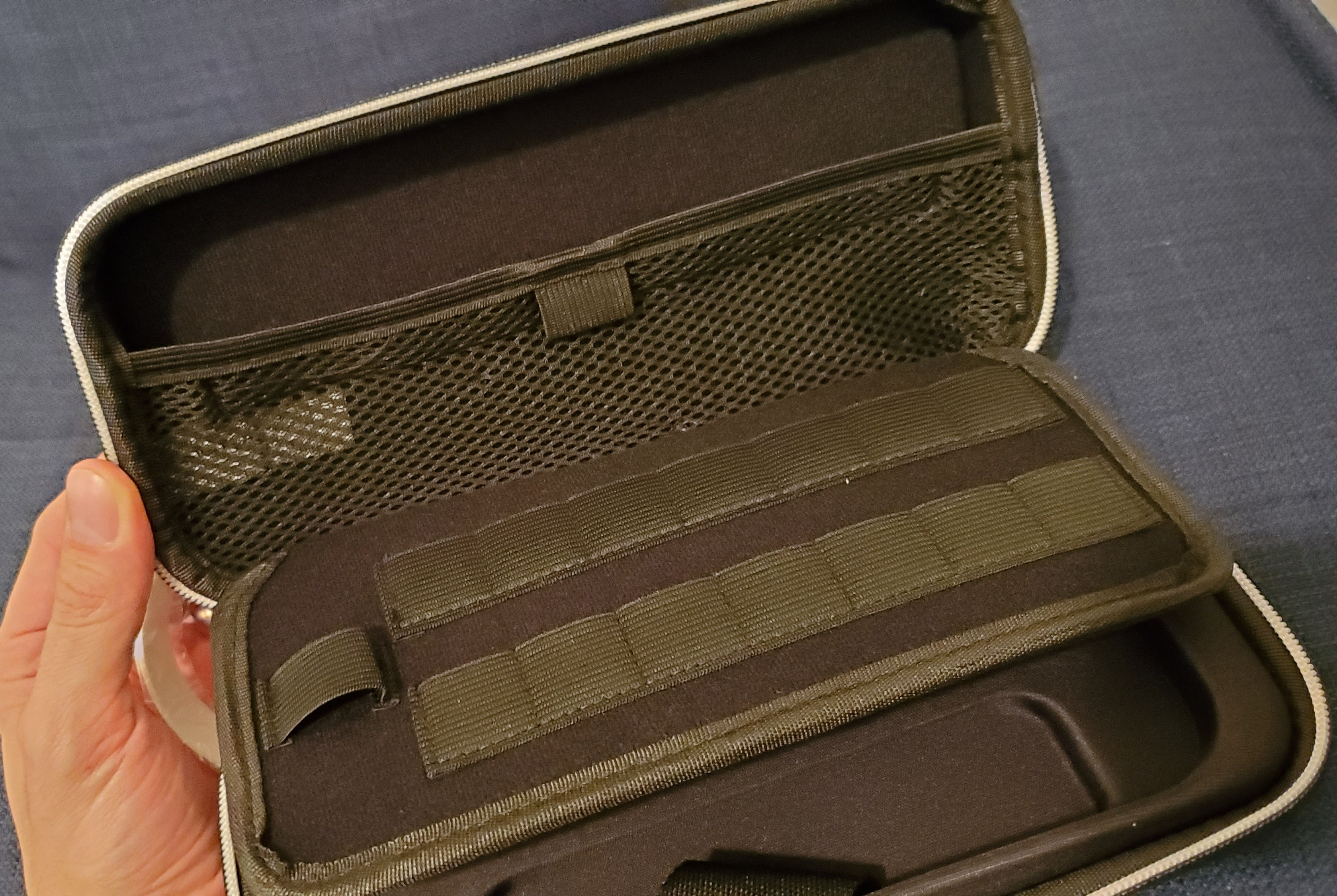 Switch Deluxe Travel Case review inside the case