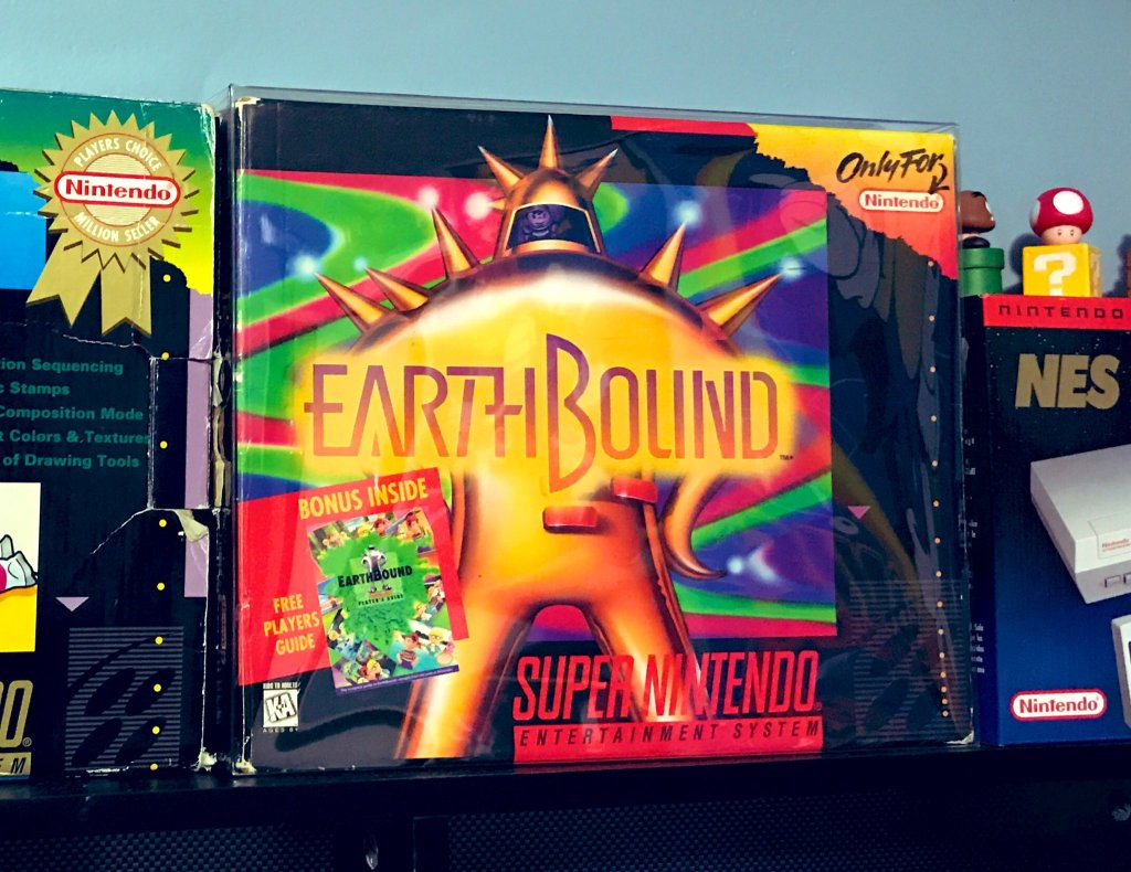 G to the Next Level's in-box copy of Earthbound
