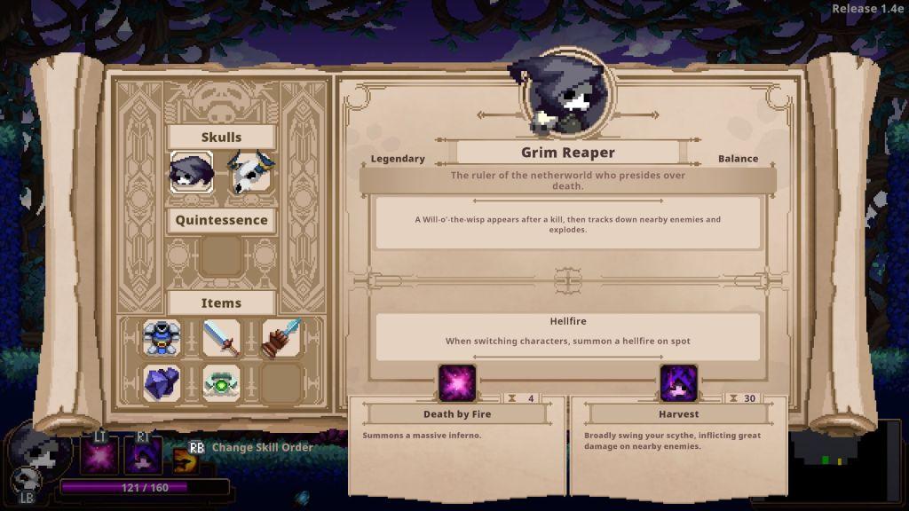 Skul: The Hero Slayer game review equipment menu
